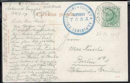 Italie - 1907 - Réfugio Tosa - Sociéta Alpinisti Tridentini - Correspondance De Madonna Di Campiglio Pour Berlin  -B/TB. - 1900-44 Victor Emmanuel III