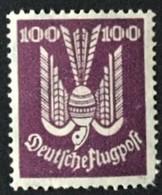 1924 Flugpost  Holztaube  Mi.348**) Zahnfehler - Ungebraucht