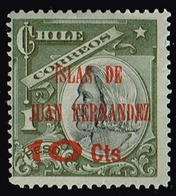Chile 1910,Michel# 76 * Columbus Issue Of Bronze Peso Ovpt. Islas DeJuan Fernandez - Chile