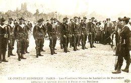 Guerre 14 18 : Les Fusiliers Marins De Lorient (56) Et De Rochefort (17) Assurent Le Service D'ordre à Paris - Oorlog 1914-18