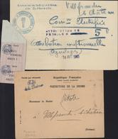 Guerre 39 45 Marque Franchise Préfet De La Drôme Doc Chambre Commerce Valence Attribution 5P Pétrôle + Doc Occ Allemande - Guerra Del 1939-45