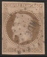 INDE FRANCAISE 30cts Empire N° 9 Losange INDE - India (1892-1954)