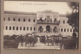 CPA LIBAN - BEYROUTH - Le Grand Sérail - TB PLAN Façade Edifice + TB ANIMATION Devant ATTELAGES - Liban