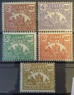 MADAGASCAR 1908/24 - MNH - YT 8-12 - Chiffre-Taxe - Madagascar (1889-1960)