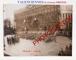VALENCIENNES-Parade-2x Grosses PHOTOS Allemandes-GUERRE 14-18-1WK-France-59-Militaria- - Valenciennes