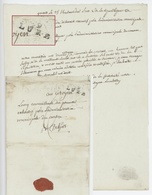 Marque 69 LURE Lettre De Quers Laffey 12.8.1796 Réquisition - 1701-1800: Precursori XVIII