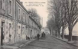 37 .n°  107135 . Saint Cyr Sur Loire .attelage .le Quai De Portillon . - Saint-Cyr-sur-Loire