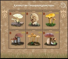 Kazakhstan 2019. Kazakhstan Mushrooms. Plants. Fauna.   MNH - Funghi