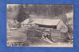 CPA - Secteur GERARDMER - Scierie Sur Le Bouchot - Vosges - Hiver Travail Du Bois Métier - France