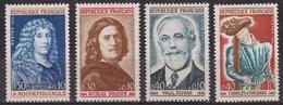 La Rochefoucauld - Nicolas Poussin  - FRANCE -  Paul Dukas, Charles D'Orléans - N° 1442 à 1445 * - 1965 - Nuovi