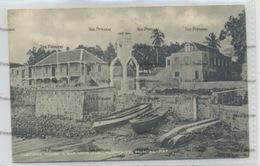 West Indies Montserrat Customs House War Memorial Plymouth 1910s-20s WH Irish D Hope Published - Antilles