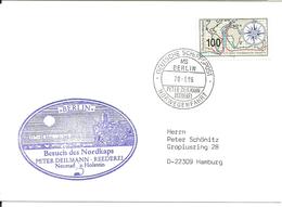 Germany ShipsPost 1996 MS Berlin Norwegenfahrt, Visit Nordkap,  Special Cover, Special Cancellation 20.6.1996 - BRD