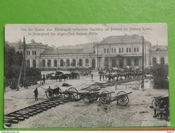 Von D'en Russen Zum Abtransport Vorbereitete Geschutze Am Bahnhof Der Festung Kowno... Feldpoststation Nr209 - Litouwen