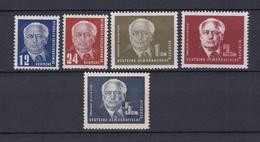 DDR - 1950/52 - Michel Nr. 251/255 - Ungebr. - 25 Euro - DDR