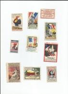 Guerre 1914 - 1918  10 Timbres N'achetez Rien Aux Allemands - Documents Historiques
