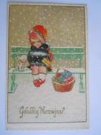 Gelukkig Nieuwjaar Bonne Année Meisje Hond Enfant Fillette Chien Degami 3099 Circulée 1938 - Nouvel An