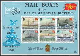ISLE OF MAN  Block 3, Postfrisch **, 150 Jahre Lsle Of Man Steam Packet Company, 1980, Schiffe - Man (Insel)