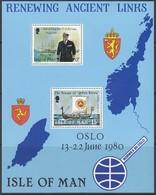 ISLE OF MAN  Block 4, Postfrisch **, Besuch Von König Olav V. Im August 1979, 1980 - Man (Insel)