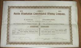 Austin Manhattan Consolidated Mining Company - 1909 - Mines