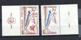 Variété Du N° 1422 C Sans Le Rouge, Répertoriée Au Maury Et Côtée 800€. - Curiosities: 1960-69 Mint/hinged