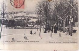 Gerardmer Le Quai Du Lac En Hiver 1907 - Gerardmer