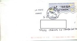 Lettre Flamme Chiffree + Cachet Sannois Sur Vignette LP - 2000 «Avions En Papier»
