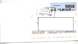 Lettre Flamme Cachet Rectangulaire Lyon Sur Vignette Dd Sur Vignette LP - 2000 «Avions En Papier»