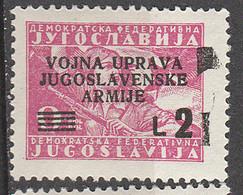 PIA - JUGOSLAVIA -  Amministrazione Militare Jugoslava - (Yv 2) - 1945-1992 Repubblica Socialista Federale Di Jugoslavia