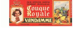 Buvard VANDAMME Buvards Images Des Rois De France Charles Martel N°4 - Pain D'épices