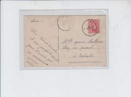 FORTUNE Obl  ARSIMONT  VERS FALISOLLE -  SUR CPA FANTAISIE - 1919 - Marcophilie