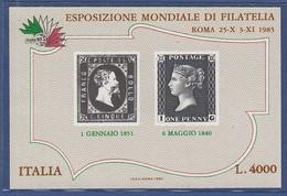 ITALIEN  Block 1, Postfrisch **, Internationale Briefmarkenausstellung ITALIA '85, Rom, 1985 - Blocks & Sheetlets