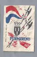 Suikerzakje.- PURMEREND 550 JAAR 11 JULI T/M 16 JULI 1960. Sugar Bag. Embalage De Sucre. Zucchero. Zucker - Suiker
