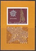 JUGOSLAWIEN  Block 19, Postfrisch **, 40. Jahrestag Des Aufstandes Gegen Die Besatzungsmächte, 1981 - Blocks & Kleinbögen