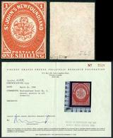 Newfoundland SG9 1/- Scarlet-Vermilion Un-used Good Colour A Great Rarity - 1857-1861