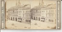 Photo Stéréo : SUISSE BALE Hotel De Ville 1864 - . HOFLINGER - Stereoscopio