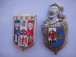 """Insigne Gendarmerie Provence Côte D'azur """"Arthus Bertrand"""" H 696 + ESOP (Ecole Supérieure Officiers Police) De Nice - Police & Gendarmerie"""