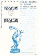 FRANCE - DOCUMENT OFFICIEL CHAMPIONNATS DU MONDE D ATHLETISME PARIS 2003 SAINT DENIS CAD SAINT DENIS 19/7/2003 - Postdokumente