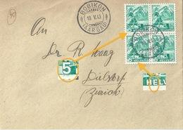 Briefvs  Böbikon (Aargau) - Dielsdorf             1943 - Switzerland