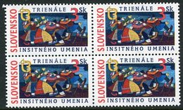 SLOVAKIA 1997 Naive Art Block Of 4  MNH / **.  Michel 282 - Nuevos