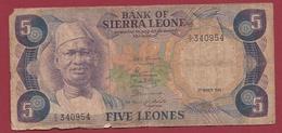 Sierra Leone 5 Leones Du 01/03/1980 Dans L 'état (238) - Sierra Leone