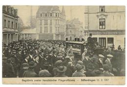DIFFERDINGEN 1917 Begrabnis Zweier Franzosischer Fliegeroffizziere 12-2-1917 (voir Texte Verso) - Differdange