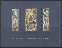 MALTA  Block 6, Postfrisch **, Flämische Wandteppiche, 1980 - Malta