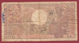 Centrafricaine 500 Francs Du 01/06/1981 Dans L 'état (240) - Repubblica Centroafricana