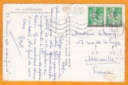 1962 - EA - Carte Postale D' Alger Gare Vers Marseille, France - Paire 10 C Semeuse Surch EA - Algerien (1962-...)