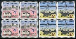 SLOVAKIA 1996 Transport Anniversaries Blocks Of 4  MNH / **.  Michel 265-66 - Nuevos