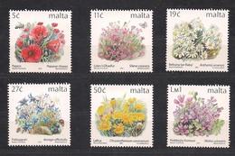 Malta Malte 2001 Yvertn° 1163-1168 *** MNH Cote 15,00 Euro Flore Fleurs Bloemen Flowers - Malta