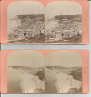2 Photo Stéréo : ETRETAT Vue Generale, Plage,ville - Photos Stéréoscopiques