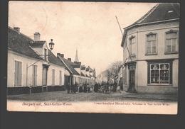 Sint-Gillis-Waas - Dorpstraat - Uitgave Cesar Rombaut-Heyndrickx, Schilder - 1911 - Sint-Gillis-Waas