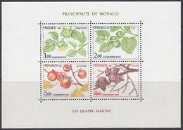 MONACO Block 18, Postfrisch **, Die Vier Jahreszeiten, 1981 - Blocks & Kleinbögen