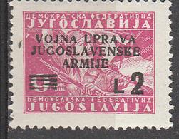 PIA - JUGOSLAVIA -  Amministrazione Militare Jugoslava - (Yv 2) - Ongebruikt
